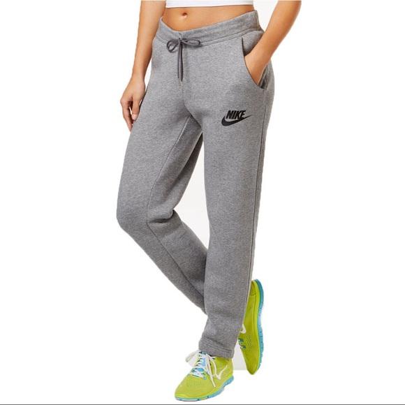 Nike Grey Baggy Fleece Sweatpants